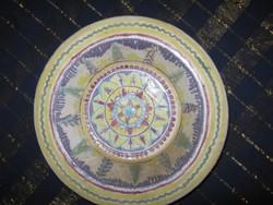 ŐS Régi, kerámia tál, tányér, 21x 5cm (45) Habán???