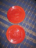 Pázmány, Balatonfüred kerámia tányér, 2 db, 14,5 c m (57)