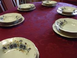 Zsolnay búzavirágos tányérkészlet
