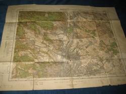 Budapest - Észak  katonai térkép   1940