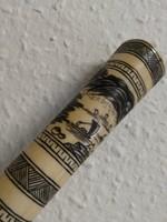 Teljesen csont anyagú sétabot a japán Meiji-korszakból