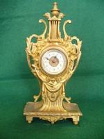 Szecessziós francia bronz kandalló óra