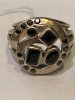 Ezüstgyűrű modern fazonú