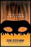 Mozart: Don Giovanni, opera plakát, opera poszter, maszk álarc pokol tűz lángok, Don Juan, Casanova