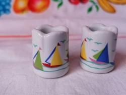 FUNNY DESIGN Germany mini porcelán gyertyatartó pár
