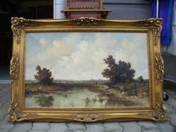 Ernst Bröcken  festmény Birka terelés