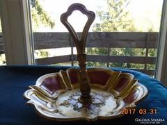 Barokk faragott fa,aranyozott kínáló díszes fogóval jelzett