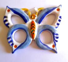 Retro iparművészeti kerámia pillangó