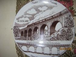 Viadukt  dísz tányér falitányér