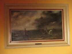 Hortobágy Bán Tibor festmény keretezve 40x60, 28x48 cm vászonra