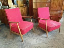 Retro régi fakarfás mid century fotel