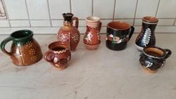 Korondi   virágmintás bokály, pohár, csupor, Miska Kancsó  eladó! 7 db kerámia
