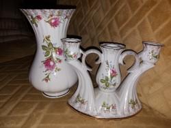 Váza és gyertyatartó, asztali kiegészítők