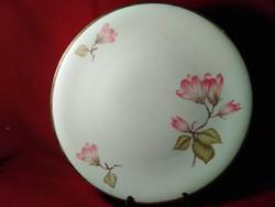 G01 Mesés virág mintás antik Elfenbein Bavaria  süteményes tál tortás tál torta tál 30 cm