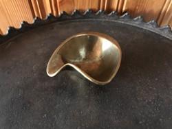 Réz hamutálca hamutartó régi súlyos mini réz hamutál
