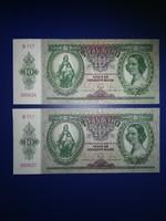 2db sorszámközeli 10 pengő