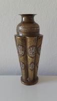 Ezüst berakásos bronz váza,közép-kelet