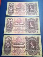 3db sorszámkövető 100 pengő
