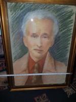Pasztell portré, 36x50+keret