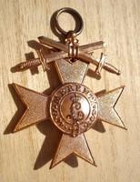 BAJOR Bayerische Katonai Érdemrend 3. Osztály Koronával és Kardokkal MERENTI 1866