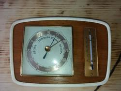 Vintage Barométer Hőmérő