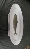 Ritka kézi festett halas porcelán tál 1844-ből