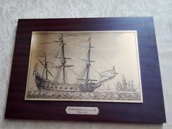 Holland vitorlás hajó 1647 rézmetszet