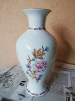 Hollóházi kézi festésű váza 25 cm