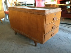 Retro régi fiókos iroda bútor komód loft mid century szekrény