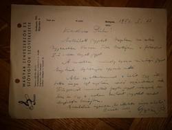 Gyöngy Pál zeneszerző ajánlása dedikált 1952