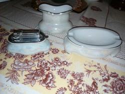 Retro JAROLINA eozinmázas lengyel porcelán dohányzó szett