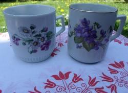 Zsolnay porcelán, ibolyás (teás) bögrék
