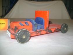 Retro játék autó fából - kézi munka