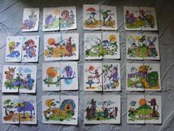 Retro Állatos játékkártya - Foky Ottó grafika