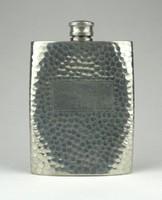 1A224 Régi jelzett angol fém italos flaska