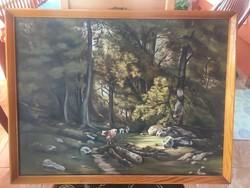 Erdőben legelő tehenek (Kis Endre)
