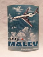 MALÉV TU-134 Jet képeslap