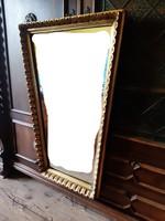 Antik lap aranyozott tükör  56 cm x 87 cm
