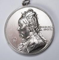 Medailleur Scharff, Anton 1845-1903 Silbermedaille 1891,