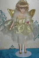 Eladó porcelán baba (tündér vagy angyal)