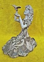 Bod Éva Kerámia Női figura lepkével