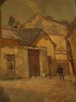 Bay Alajos (1864 – 1935) : Sepregető a Tabánban