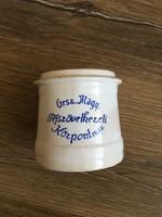Régi Tejszövetkezeti porcelán tartó edényke