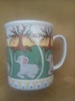 Hollóházi elefántos csésze egyedi