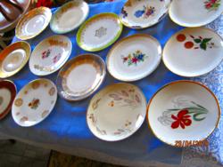 14 db régi süteményes tányér