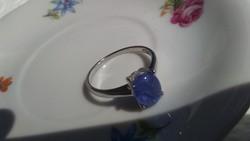 Tanzanit  925 ezüst gyűrű 59