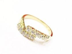 Arany női köves   gyűrű (Szeg-Au85916)
