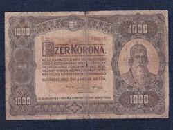 Nagyméretű Korona Államjegy 1000 Korona bankjegy 1920 / id 21519/