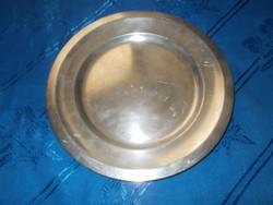 Antik jelzett  hermann wien alpakka tál tányér