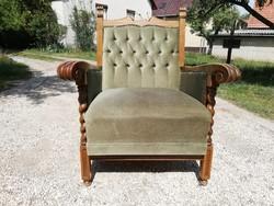 Kifejezetten kényelmes masszív koloniál fotel / Bp. és közelébe akár szállítással